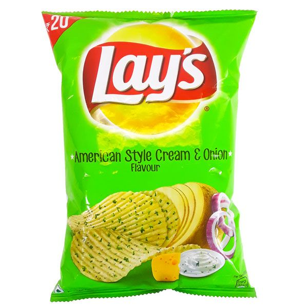 Lay's American Style Sour Cream And Onion Flavored Potato Chips