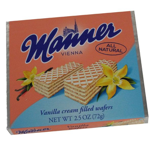Manner All Natural Vanilla Cream Filled Wafer