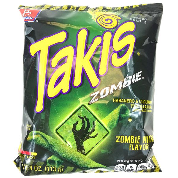 Barcel Takis Zombie Habanero And Cucumber Tortilla Chips Free