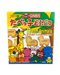 Ginbis Dream Animals Biscuits Coconut Flavored